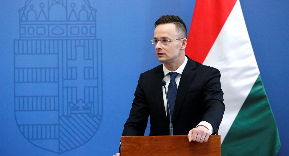 El Ministro de Asuntos Exteriores húngaro Peter Szijjarto, imagen referencial