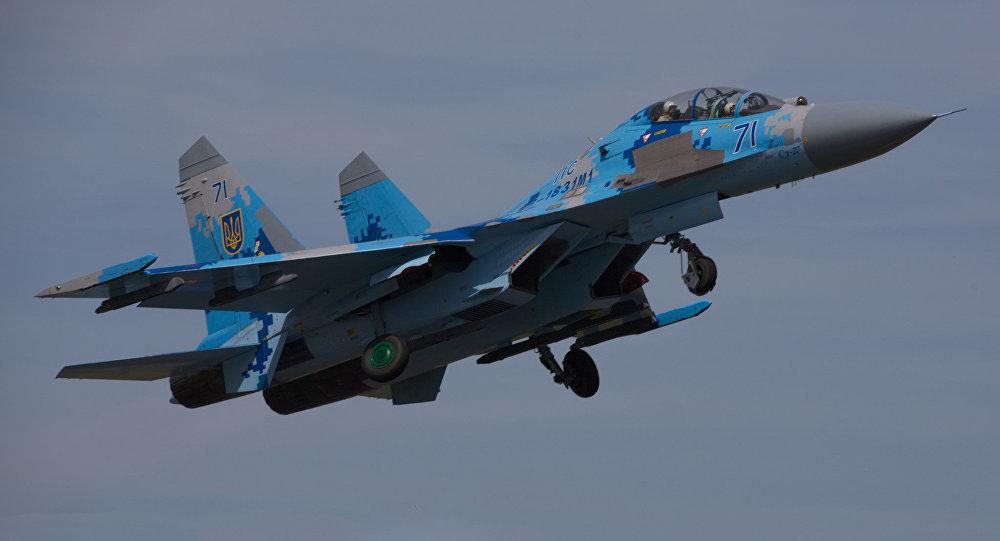 Un avión Su-27 de las Fuerzas Aéreas de Ucrania (Archivo)