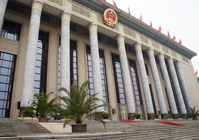 Gran Salón del Pueblo, lugar de celebración de las sesiones de la Asamblea Popular Nacional de China