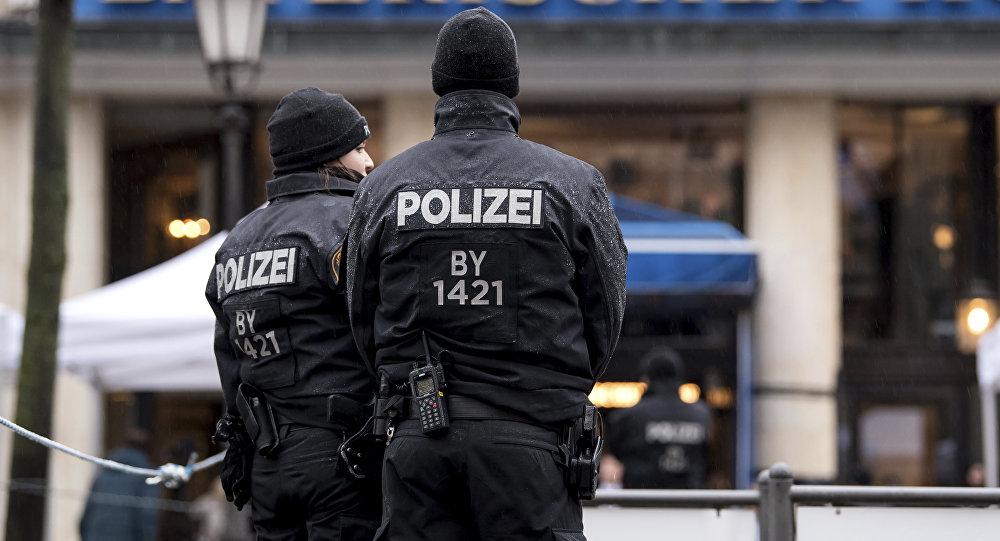 Policías alemanes, foto de archivo