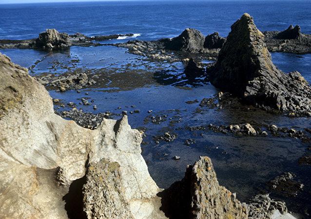La isla de Matua, foto de archivo