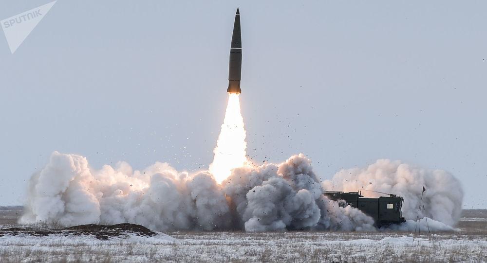Prueba de un misil balístico en el polígono Kapustin Yar en Rusia (archivo)