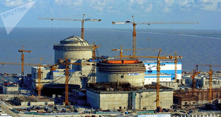 La construcción de la planta nuclear de Tianwan
