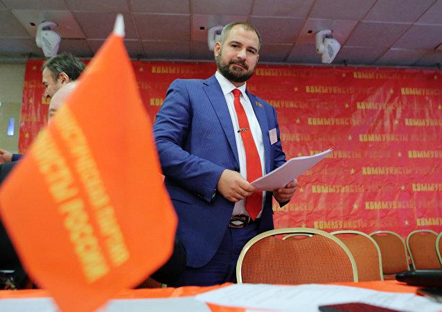 Maxim Suraikin, el presidente del partido Comunistas de Rusia