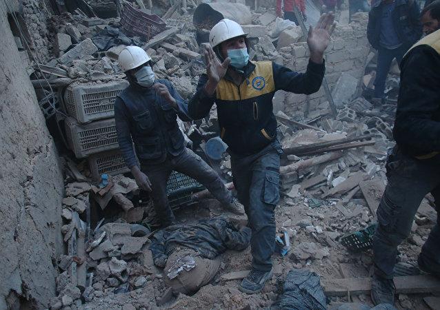Los Cascos Blancos en Siria (imagen referencial)