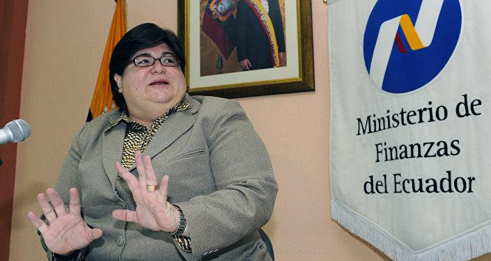 María Elsa Viteri, ministra de Economía y Finanzas de Ecuador