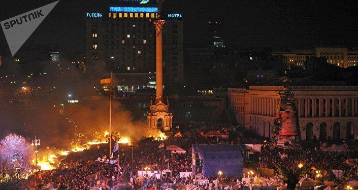 Situación en Ucrania un día antes del golpe de Estado (archivo)