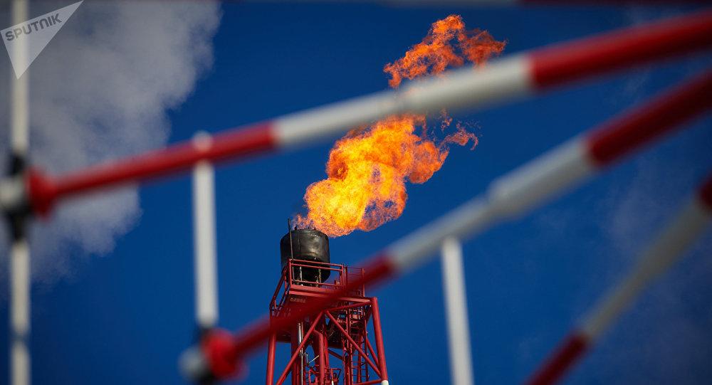 Una planta de procesamiento del gas