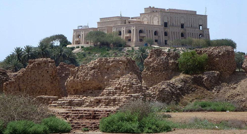 El palacio de Sadam Husein en Babilonia