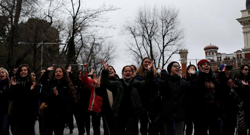 Manifestación con motivo del Día Internacional de la Mujer, Madrid, España