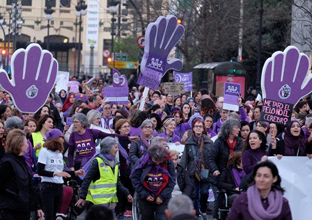 Manifestación feminista en España