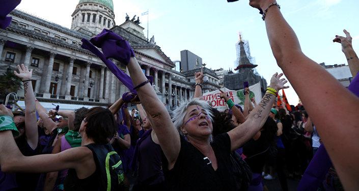 Demostraciones en Buenos Aires por el Día Internacional de la Mujer