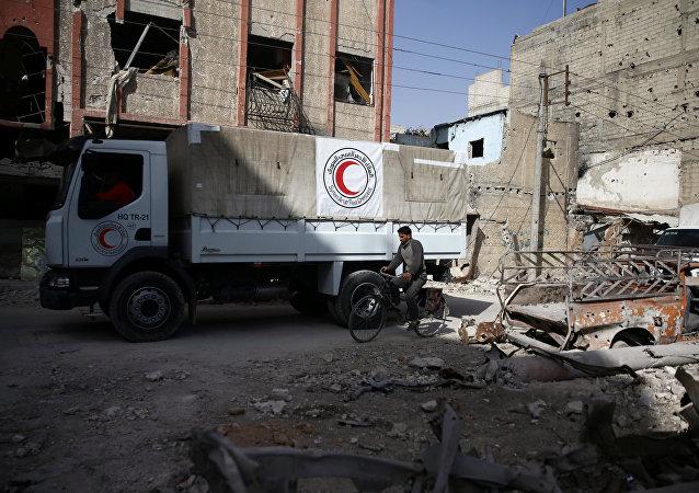 Convoy humanitario en Guta Oriental, Siria