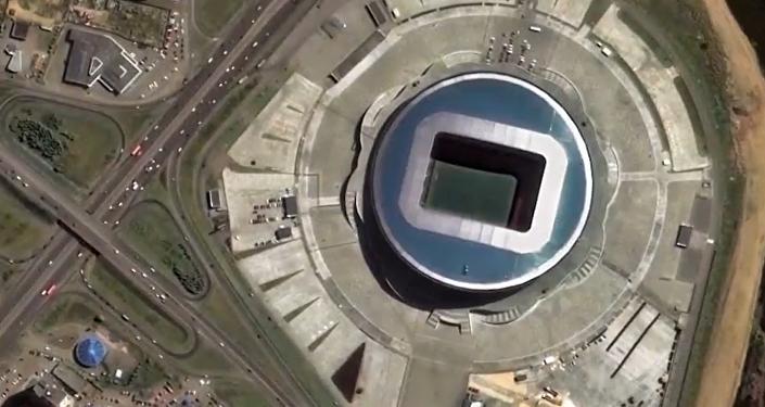 Los estadios del Mundial de Rusia 2018, vistos desde el espacio