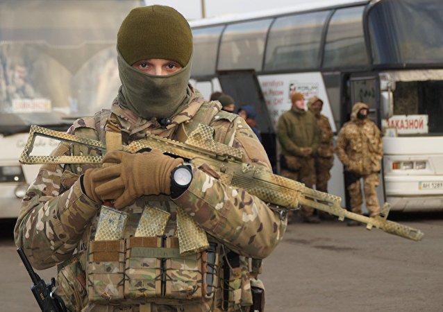 Militar ucraniano en Donbás (archivo)