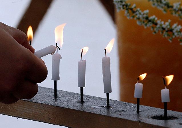 Las velas encendidas