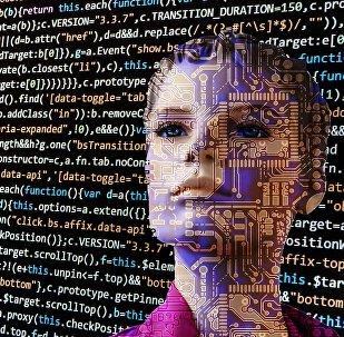 Representación de fantasía de la inteligencia artificial