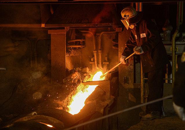 Producción de metal (imagen referencial)