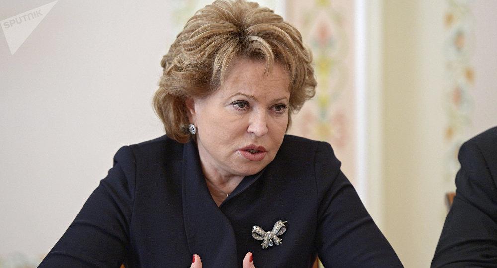 Valentina Matvienko, presidenta del Senado de Rusia