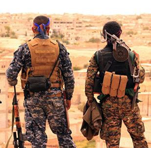 Soldados de las Fuerzas Democráticas Sirias (FDS) en las inmediaciones de Al Raqa (archivo)