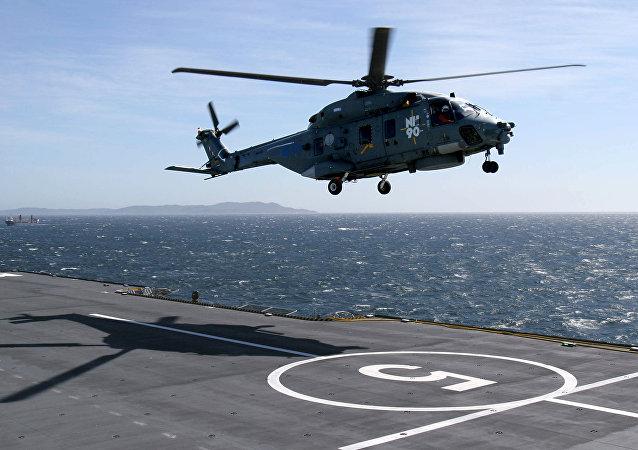 Un helicóptero NH90 (imagen referencial)