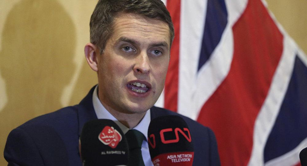 Gavin Williamson, ministro de Defensa británico (archivo)