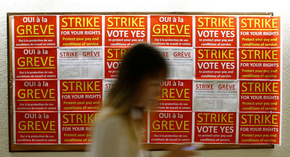 Llamamientos de votar a favor de celebrar una huelga en la oficina de la ONU, Ginebra