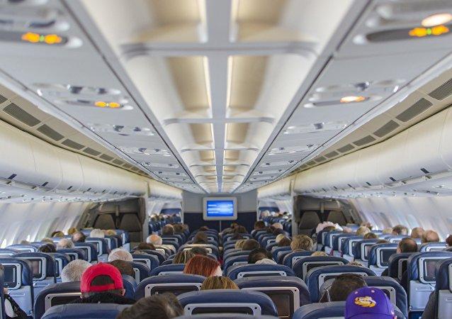 Cabina de un avión (imagen referencial)
