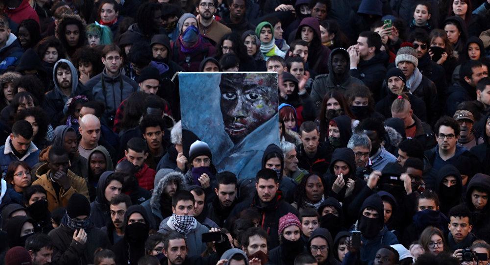 Protesta en Madrid por la muerte de un mantero