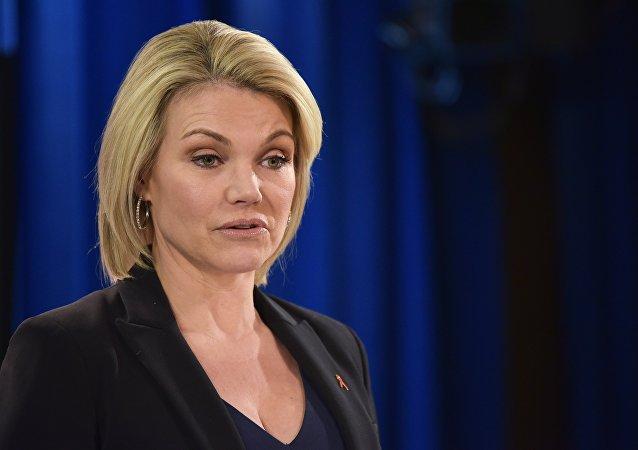 Heather Nauert, portavoz del Departamento de Estado de EEUU (archivo)