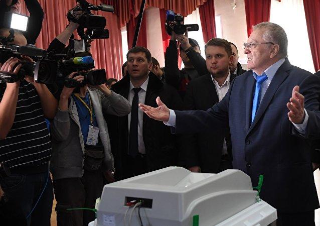 Vladímir Zhirinovski, el líder del Partido Liberal-Demócrata (LDPR)