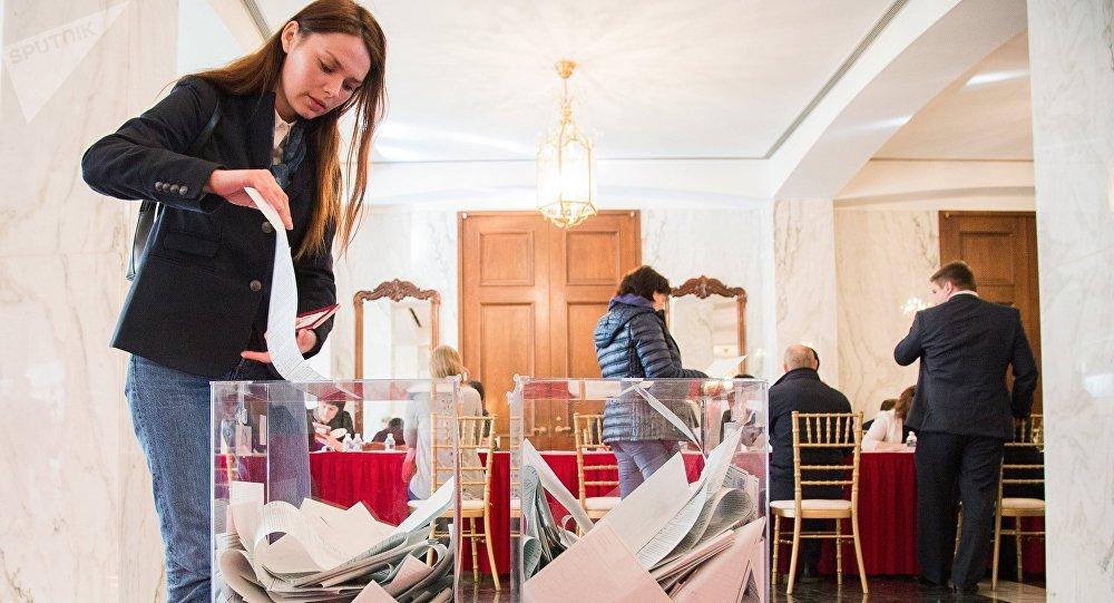 Votación en las elecciones presidenciales rusas en Washington, EEUU