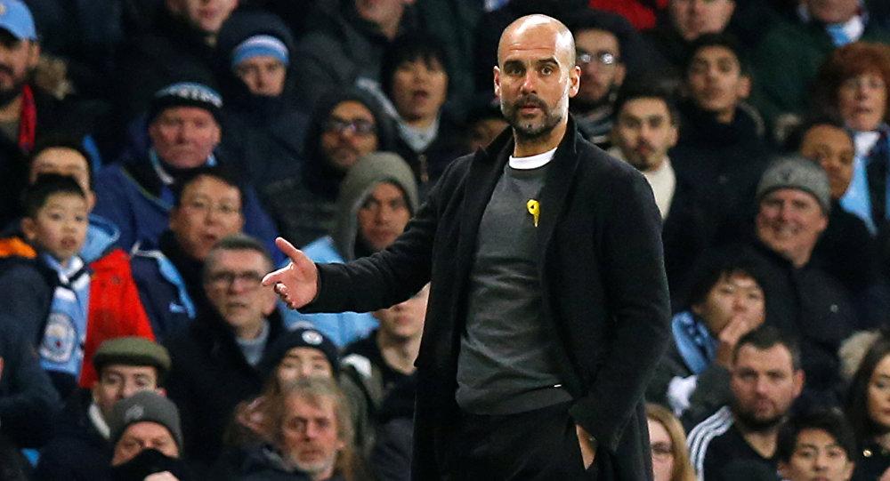 Josep Guardiola, el técnico del Manchester City