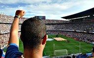 Hinchas en un juego de fútbol (imagen referencial)
