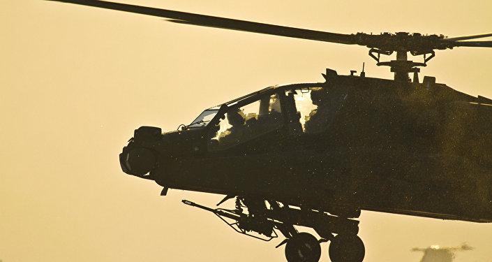 Helicóptero militar estadounidense, foto de archivo