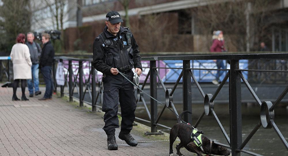 Un policía británico