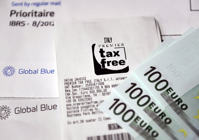 Un cheque con un sello de tax free (imagen referencial)