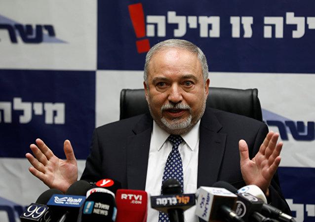 Avigdor Lieberman, ministro israelí de Defensa