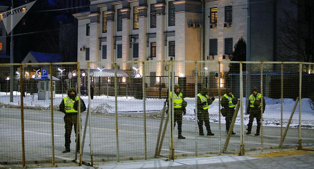 Bloqueo de la Embajada de Rusia en Kiev, Ucrania