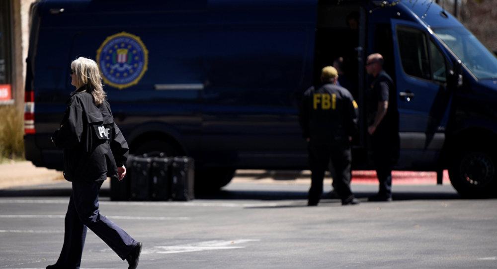 Agentes del FBI en el lugar de las explosiones en Austin, EEUU