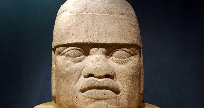 La cabeza colosal de la civilización olmeca