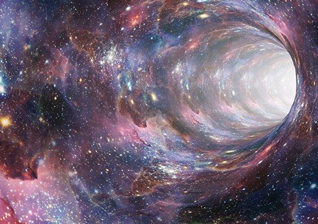 Un agujero negro, imagen referencial