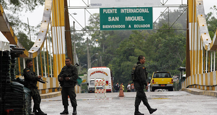 La frontera entre Colombia e Ecuador