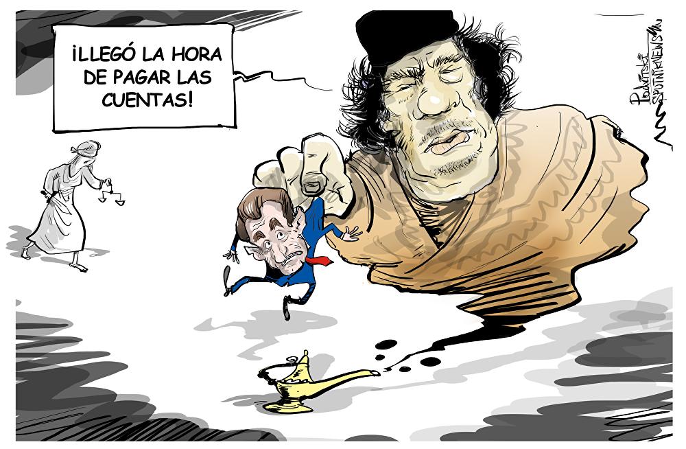 El fantasma de Gadafi espanta a Sarkozy
