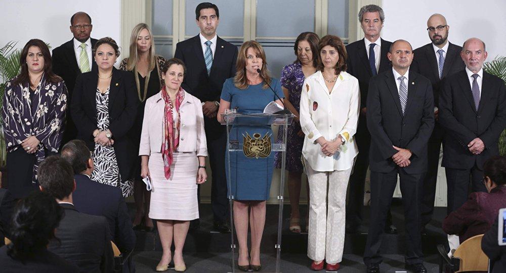 Conferencia de prensa del Grupo de Lima.