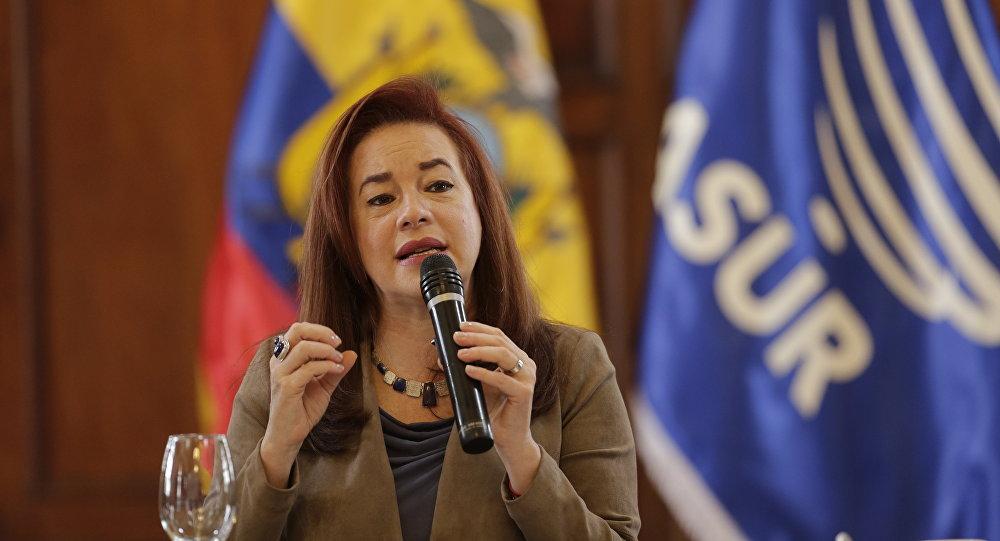 María Fernanda Espinosa, presidenta de la Asamblea General de la ONU (archivo)