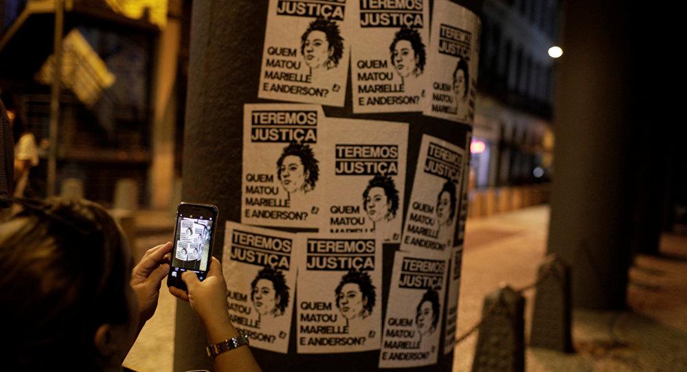 Unos retratos de Marielle Franco, la consejala brasileña asesinada