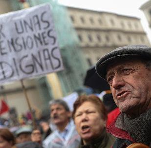 Manifestación de jubilados en España