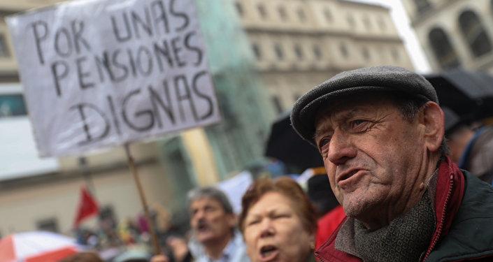 Manifestación de jubilados en España (archivo)