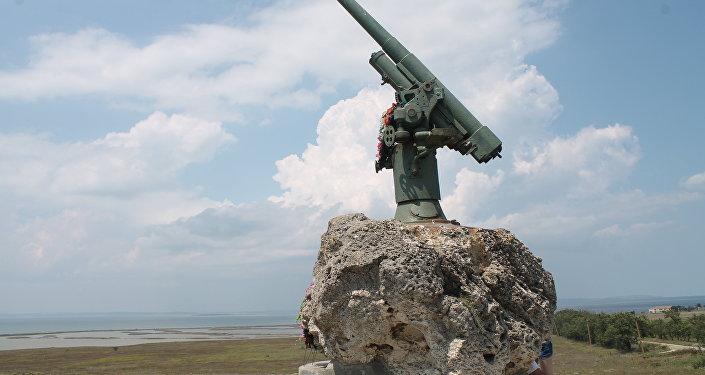Un cañón antiaéreo ruso